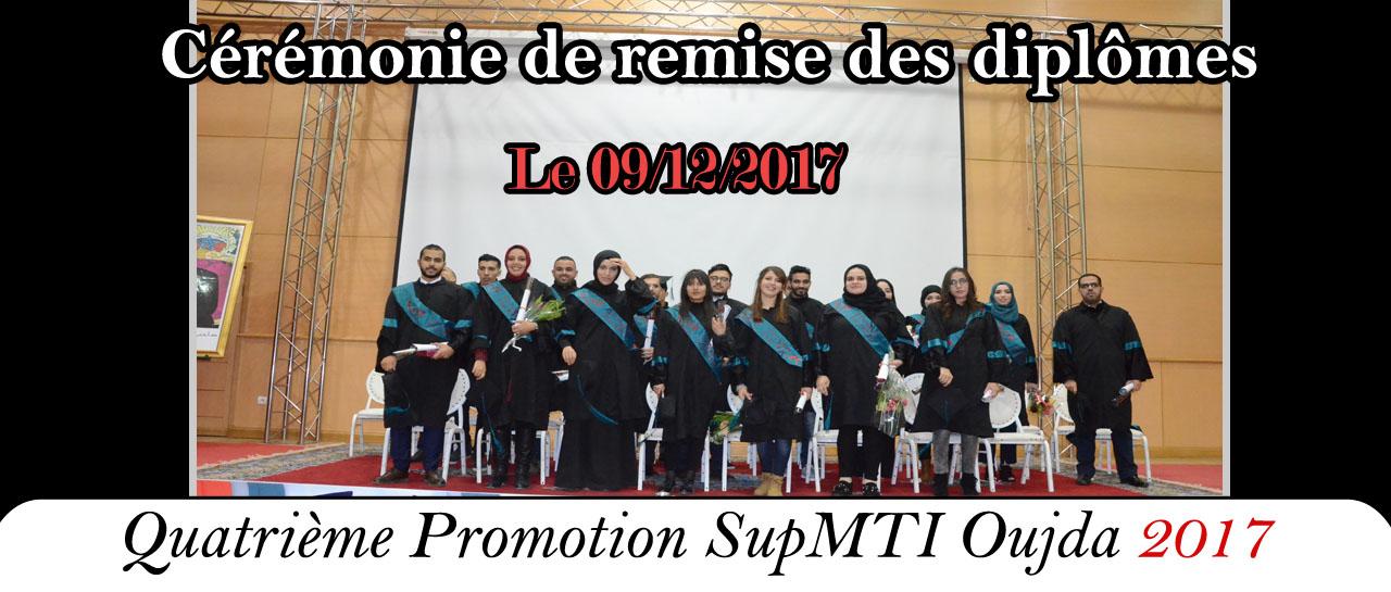 Cérémonie de remise des diplômes 2017